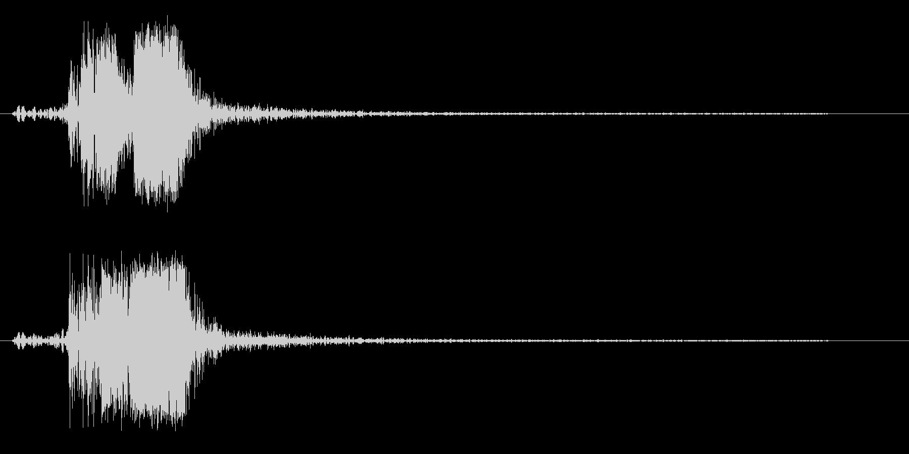 ヒュンッというスピード音の未再生の波形