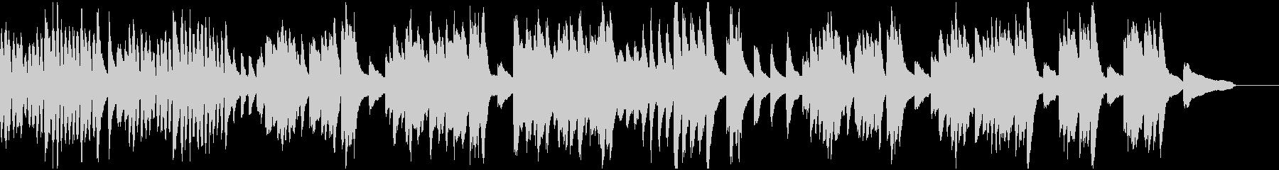 元気の良いピアノソロBGMの未再生の波形