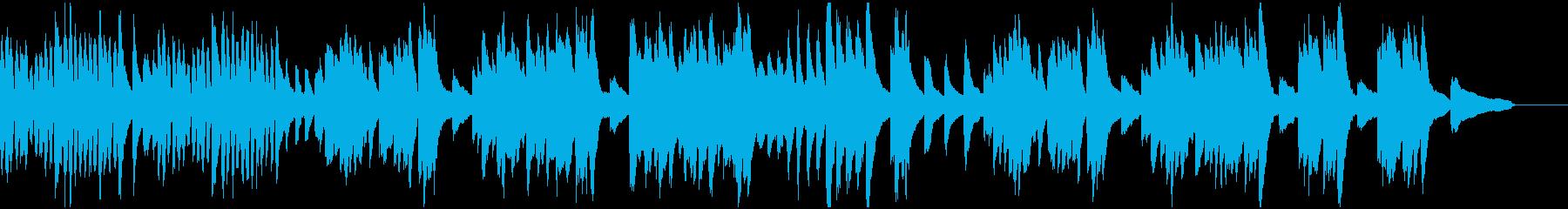 元気の良いピアノソロBGMの再生済みの波形
