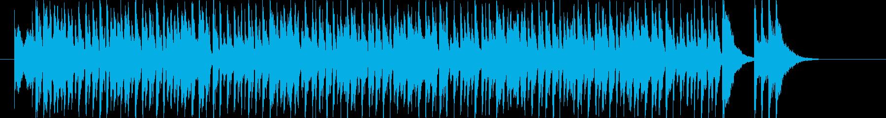 耳馴染みのいいクールなハウスの再生済みの波形