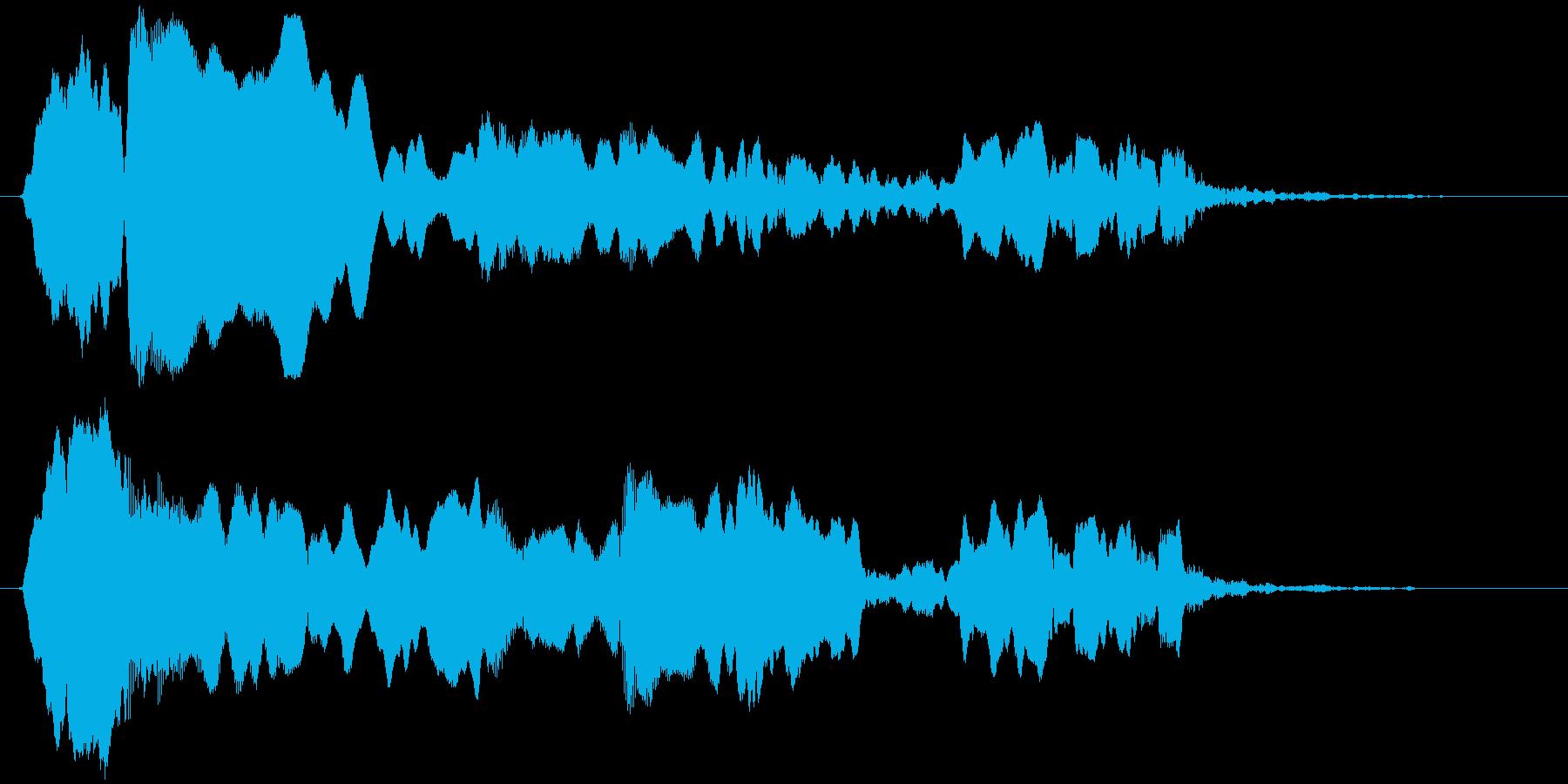 トンビ(トビ、鳶)ヒィヨォーロロロの再生済みの波形