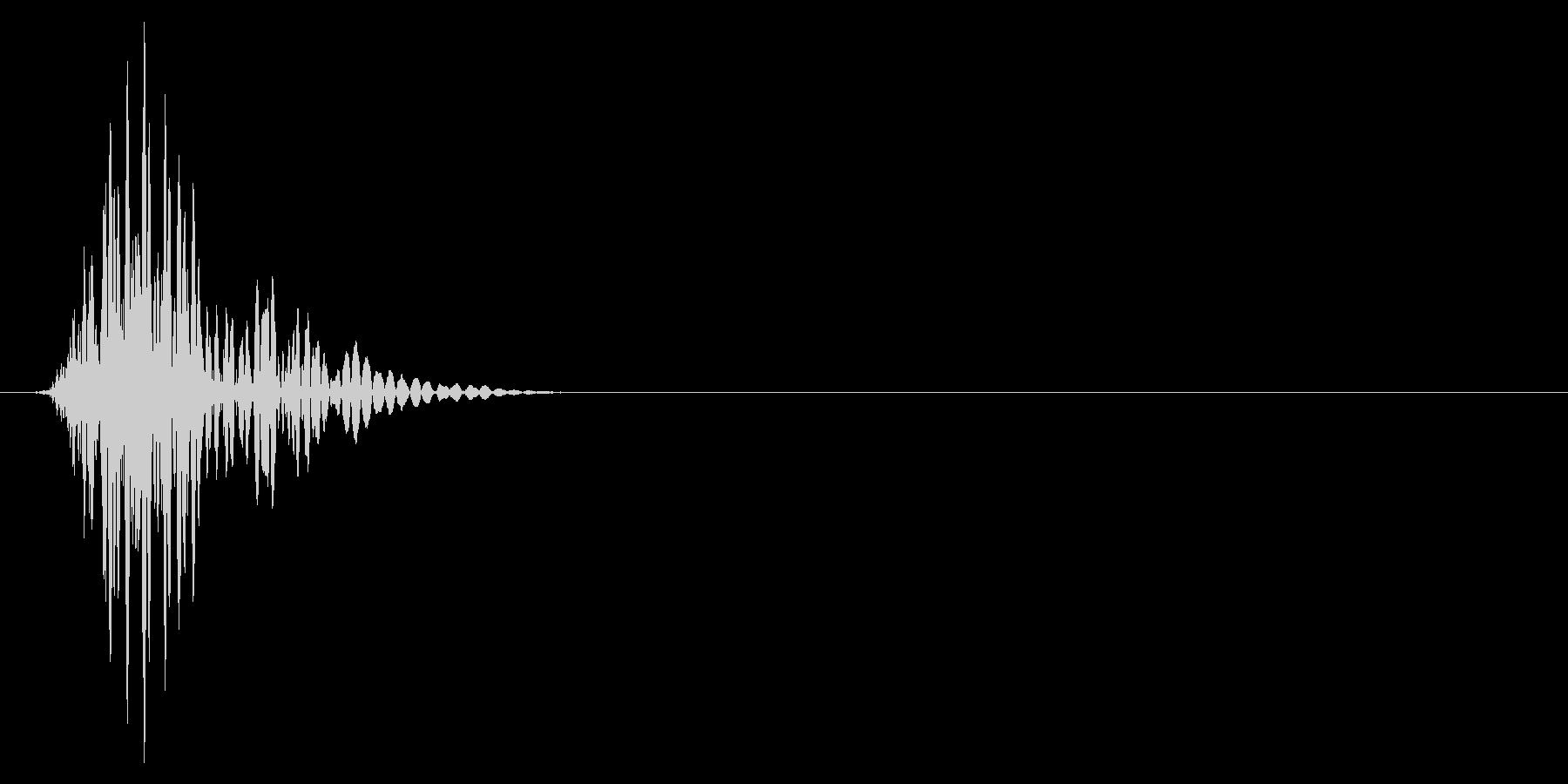 ゲーム掛け声ゾンビ1オッ1の未再生の波形
