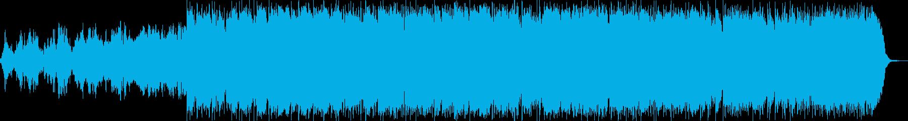電気楽器。広々とした雰囲気のあるサ...の再生済みの波形