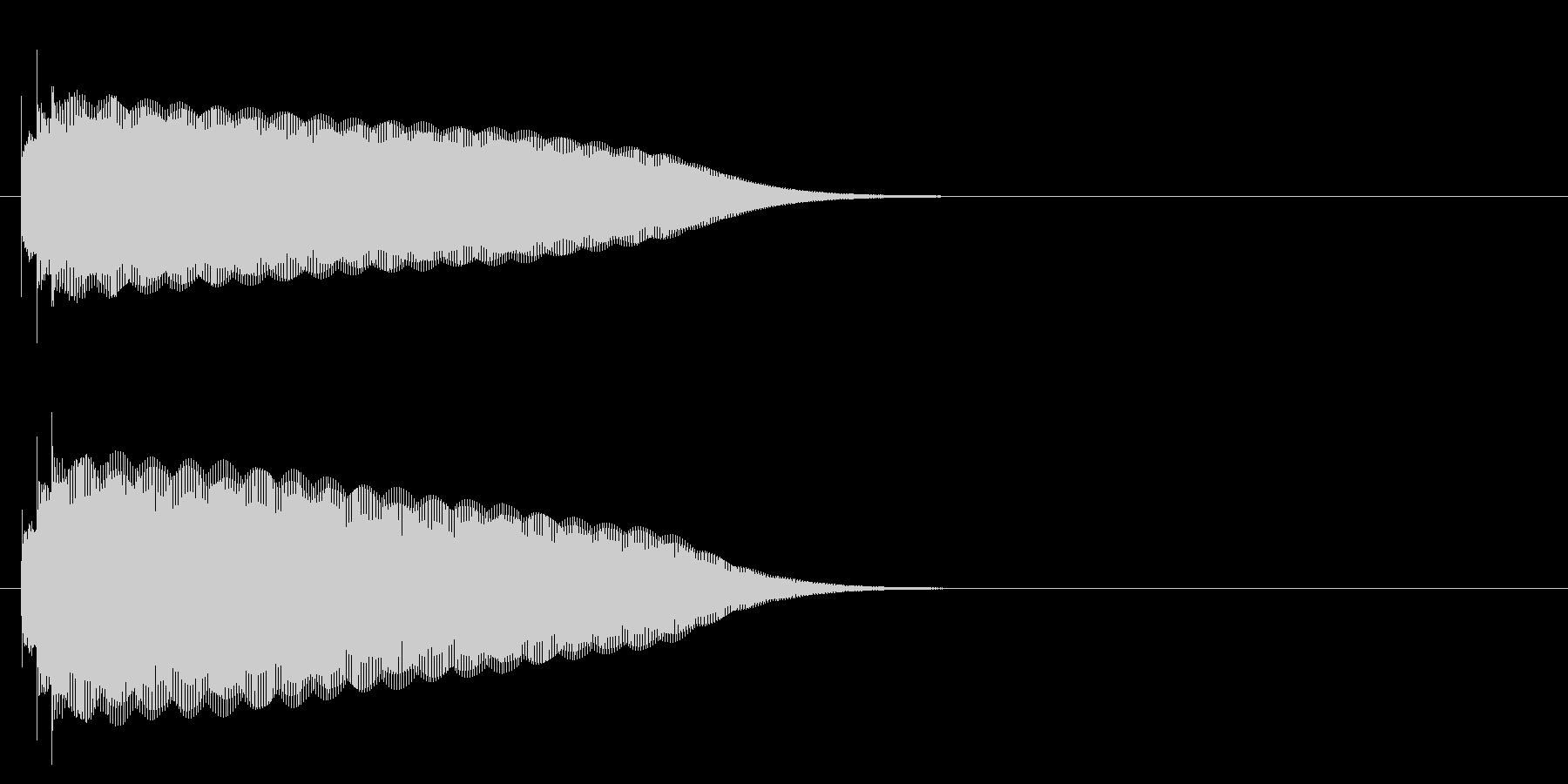 グロッケン系 タッチ音1(長)の未再生の波形