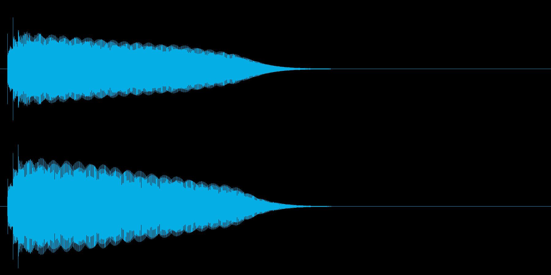 グロッケン系 タッチ音1(長)の再生済みの波形