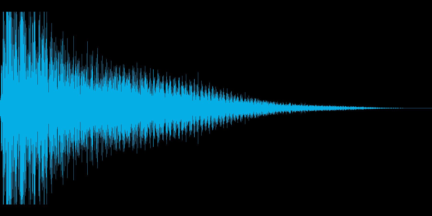 ドスーン,カートゥーン系の転倒音の再生済みの波形