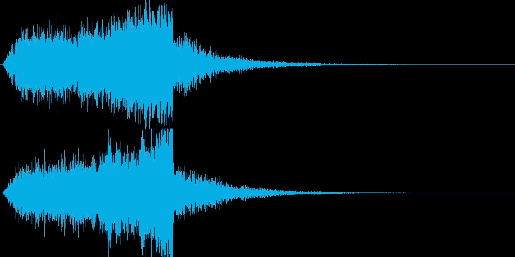 映画やゲームなどのサスペンス効果音の再生済みの波形