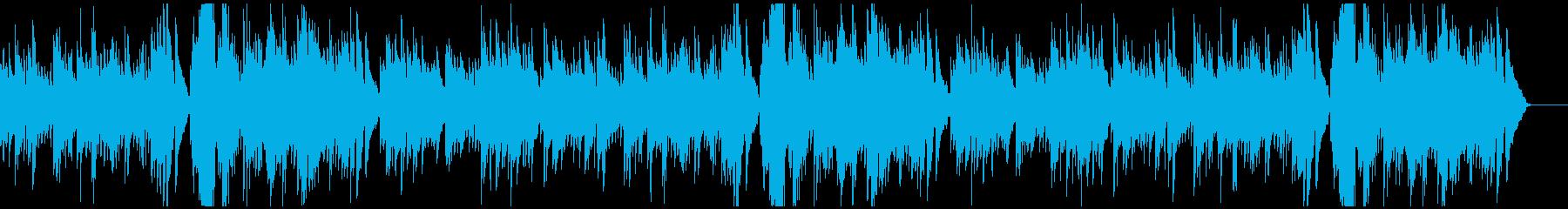 ビブラフォンとバイオリンギターのバラードの再生済みの波形