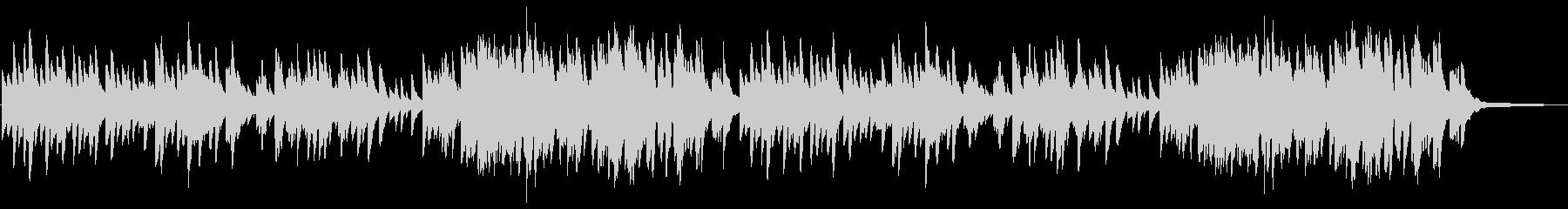 やさしい雰囲気のピアノ曲 3拍子の未再生の波形