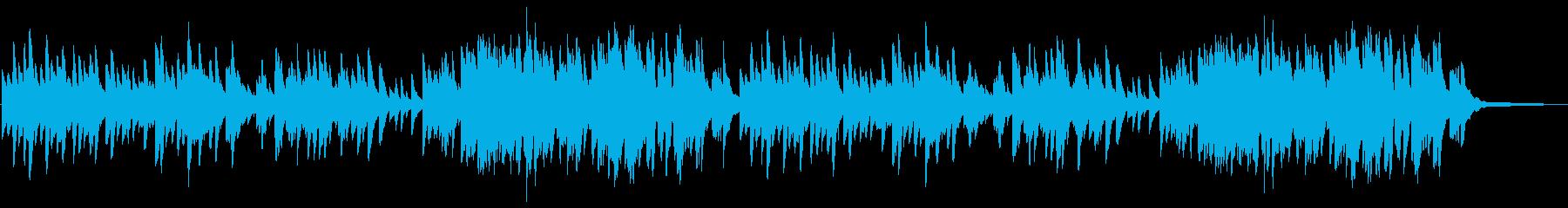 やさしい雰囲気のピアノ曲 3拍子の再生済みの波形