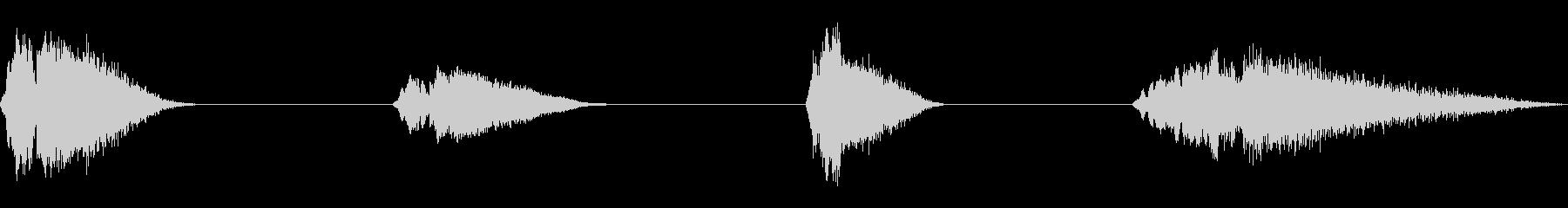 カートン、ファニーヒット+ホイッス...の未再生の波形