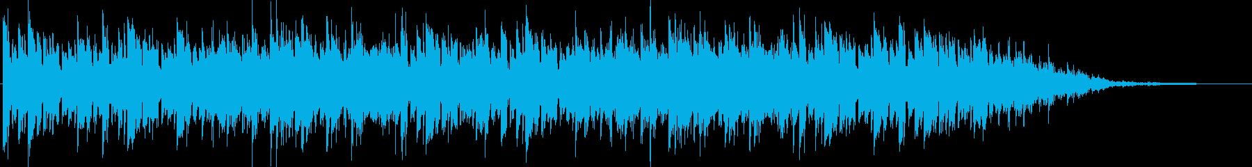 アンニュイなピアノメインBGMの再生済みの波形