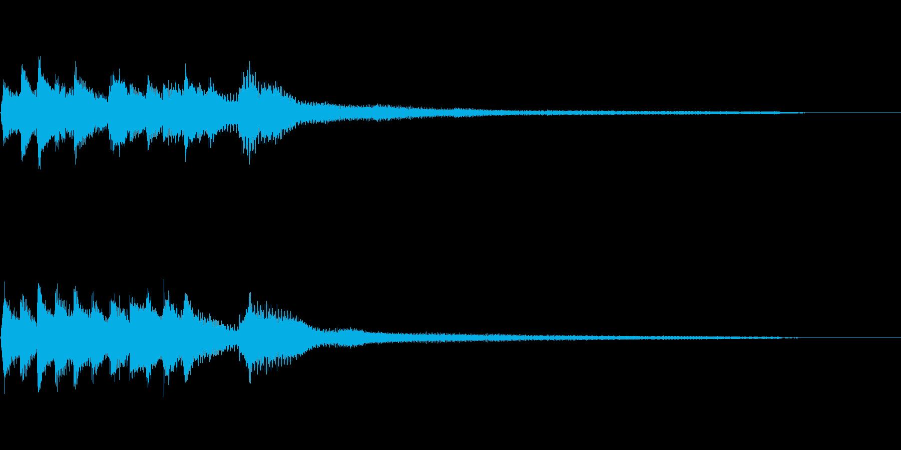 和風のジングル3-ピアノソロの再生済みの波形