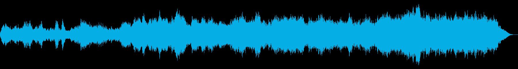 不気味な鐘の音をもとにした曲の再生済みの波形