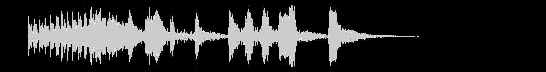 しなやかでクールなシンセジングルの未再生の波形