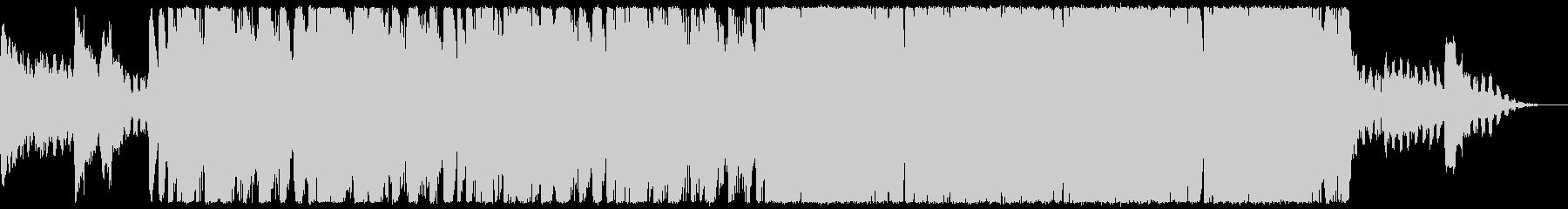 ハロウィン、ホラー系メロディー:SE付きの未再生の波形
