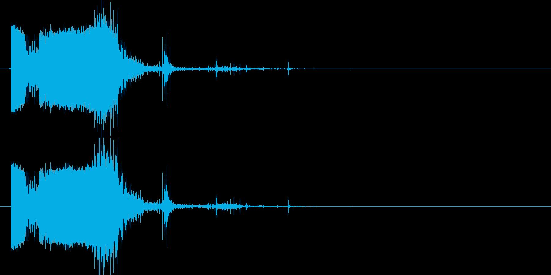 斬撃:軽めの斬撃3の再生済みの波形
