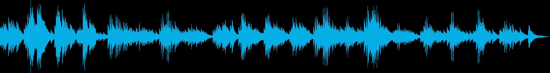 趣のある和風なピアノ曲の再生済みの波形