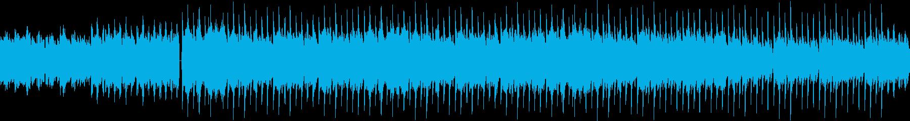 ギターメロディとコーラスのループ曲の再生済みの波形