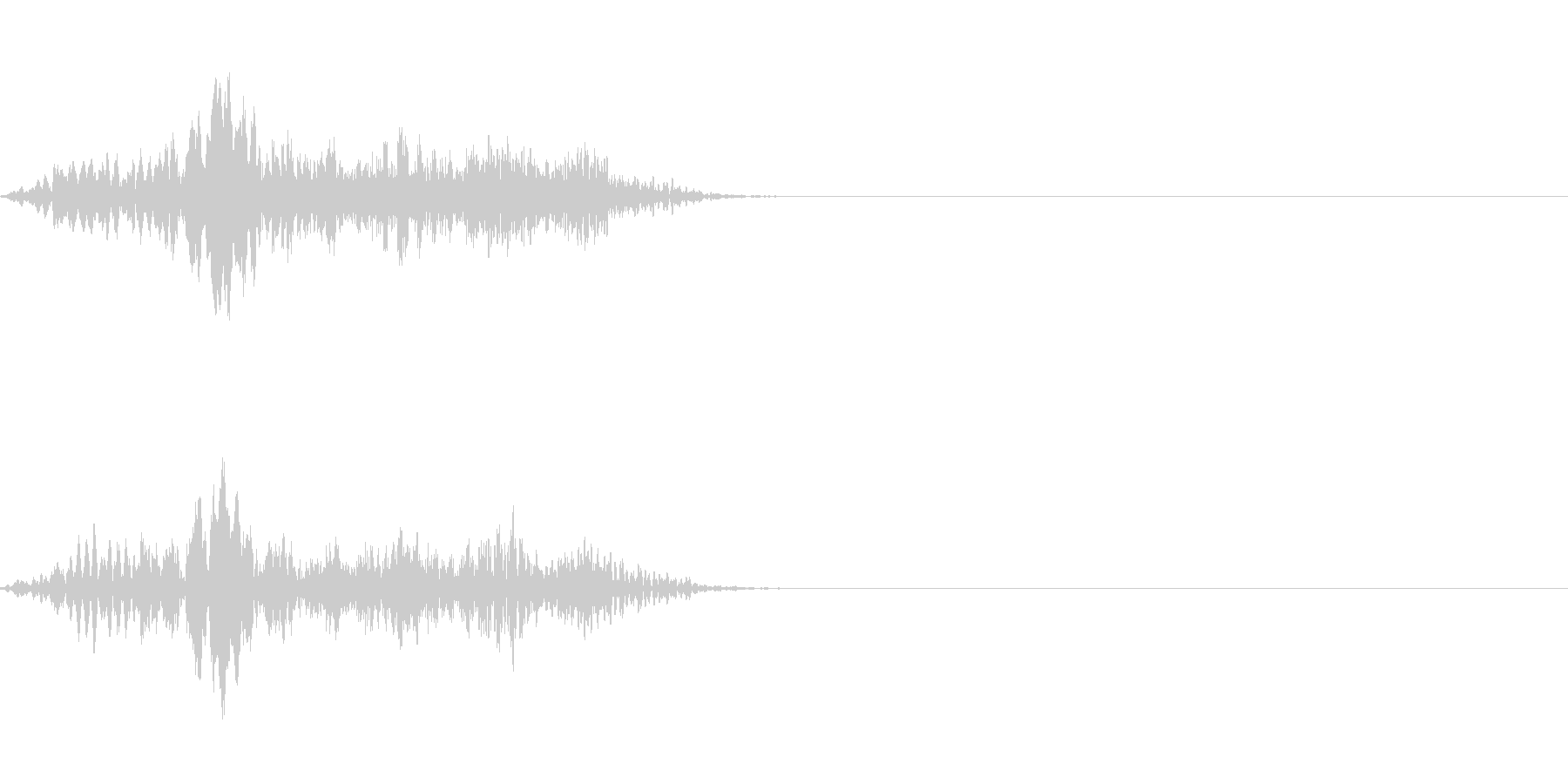 テロップの音・決定音・Whooshの未再生の波形