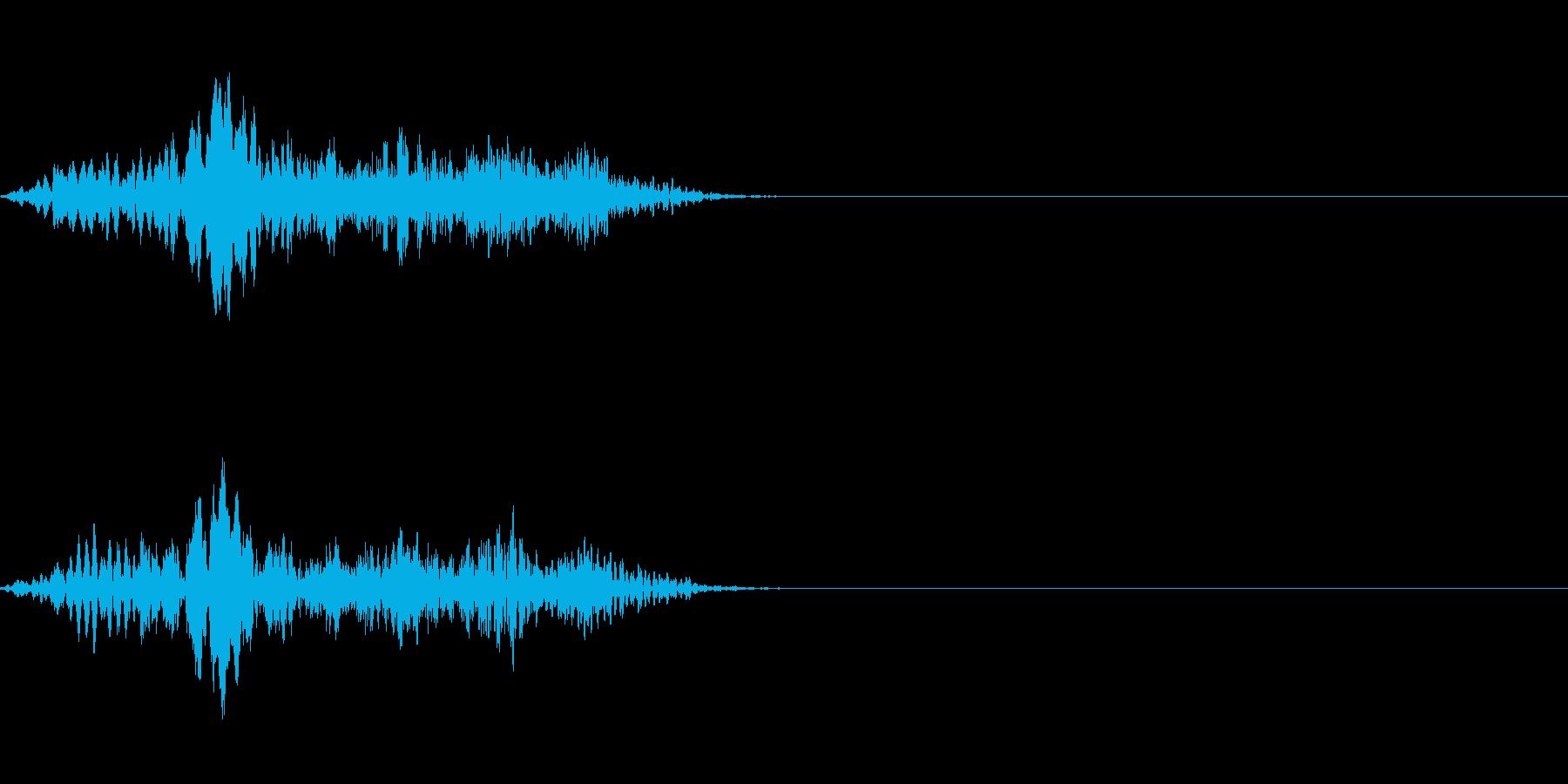 テロップの音・決定音・Whooshの再生済みの波形