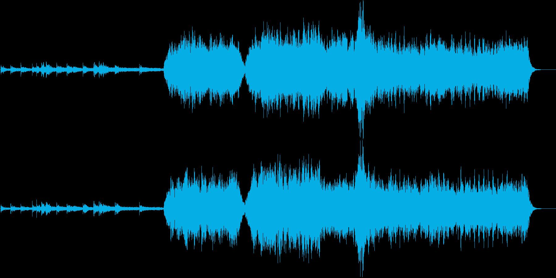 心洗われる神秘的なヒーリングミュージックの再生済みの波形