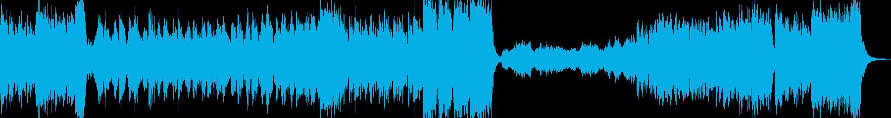勇壮な和風オーケストラ曲の再生済みの波形