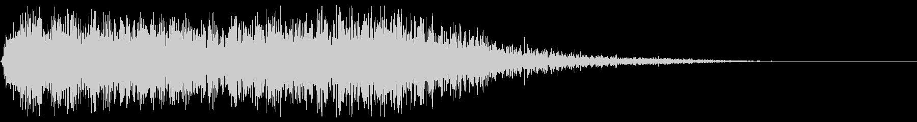 ラッシュスライドによるハードインパクトの未再生の波形