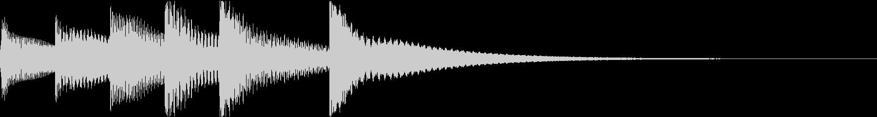 シンプルベル お知らせ ハテナ ? 25の未再生の波形