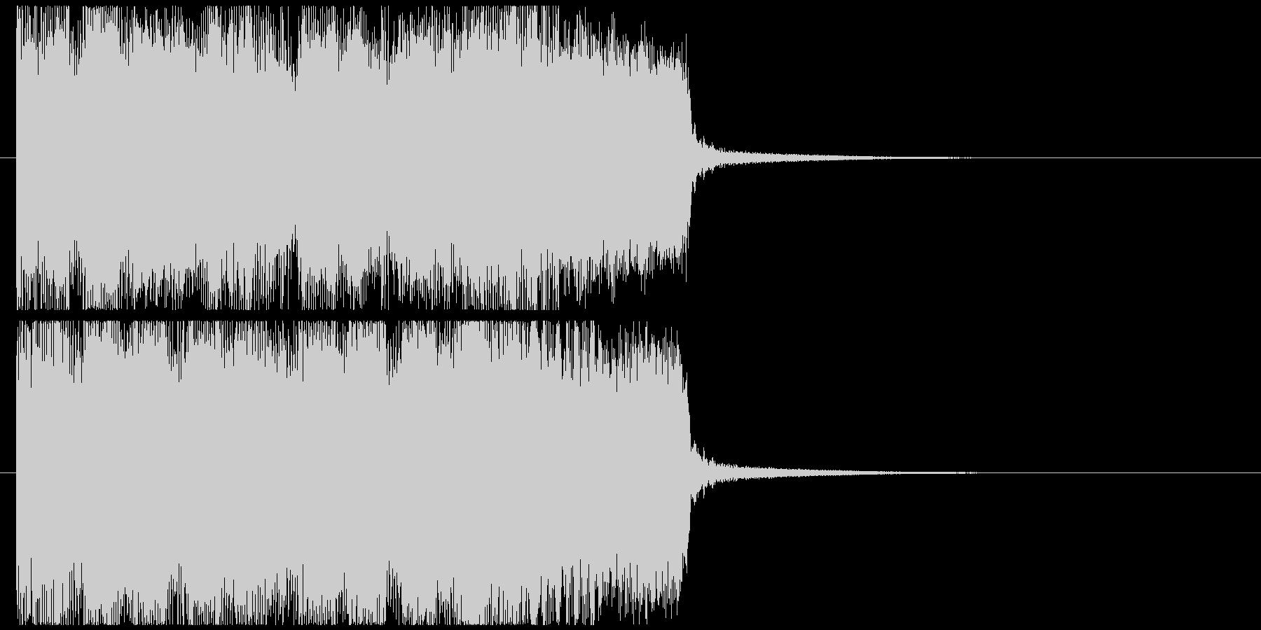 ハードロックサウンドなジングル002の未再生の波形