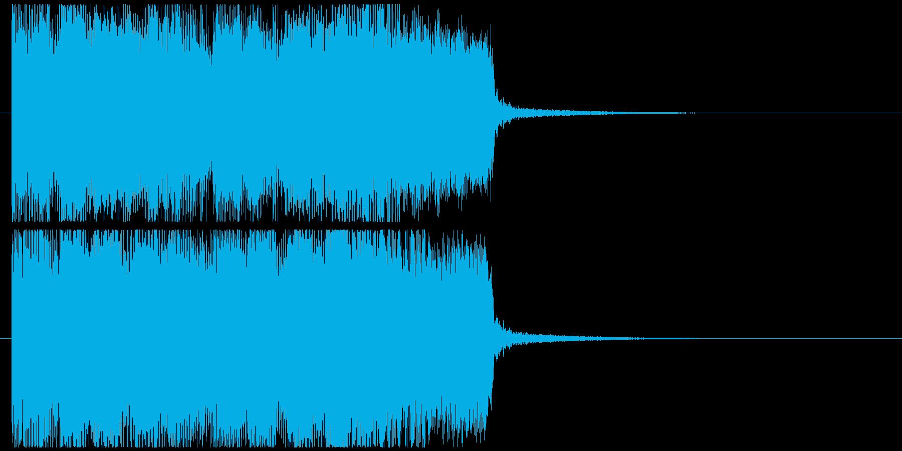 ハードロックサウンドなジングル002の再生済みの波形