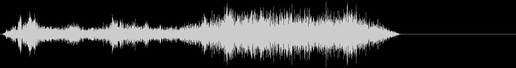 ゾンビ犬低うなり声3の未再生の波形