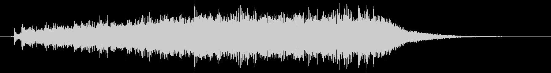 ピアノとストリングスの爽やかサウンドロゴの未再生の波形