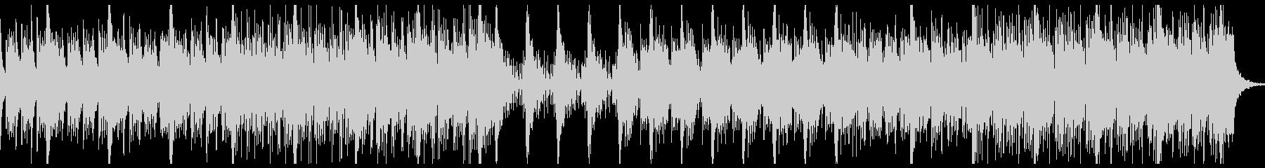 打楽器が強調されたスリリングなBGMの未再生の波形