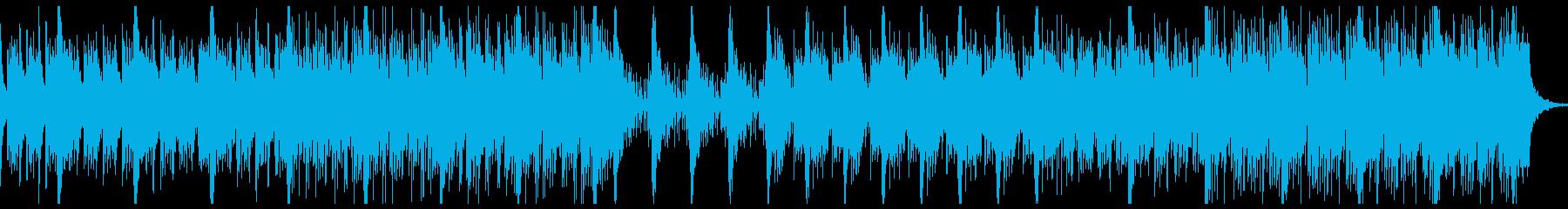 打楽器が強調されたスリリングなBGMの再生済みの波形