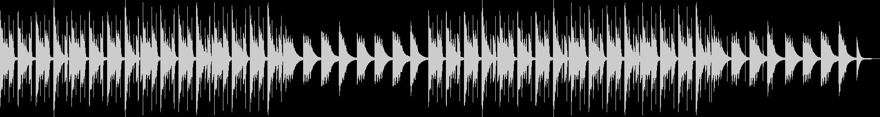 穏やかリラックス・チルアウトヒップホップの未再生の波形