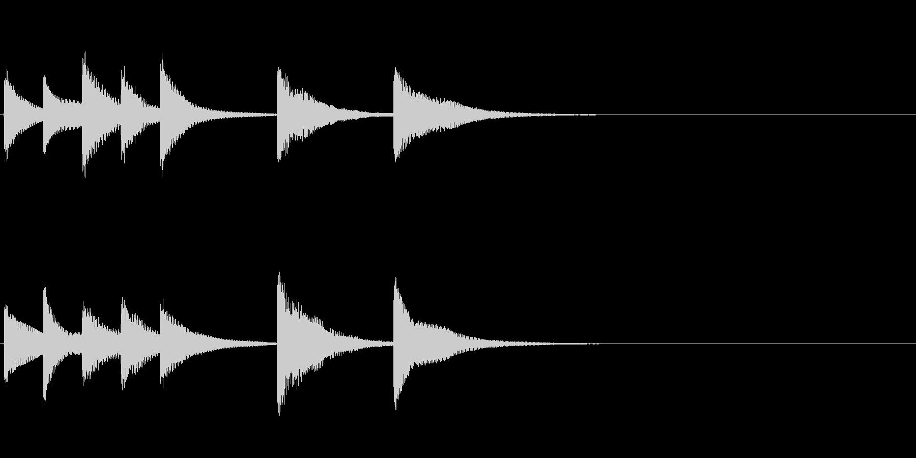 場面転換時用ジングル(BELL)の未再生の波形