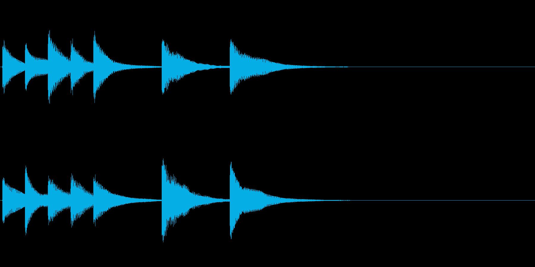 場面転換時用ジングル(BELL)の再生済みの波形