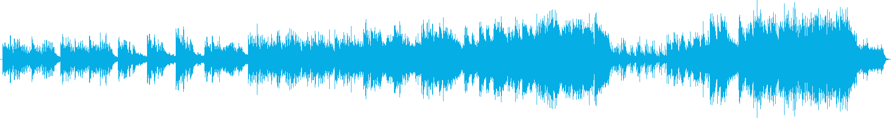 優しく穏やかなエレピのメロディの癒し曲の再生済みの波形