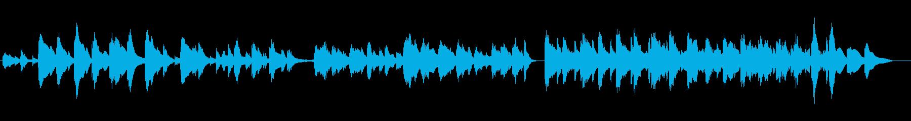ハープのクラシック風の華麗な曲の再生済みの波形