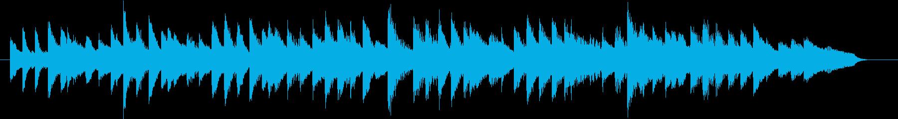 静かでたわやかなハートフルピアノジングルの再生済みの波形