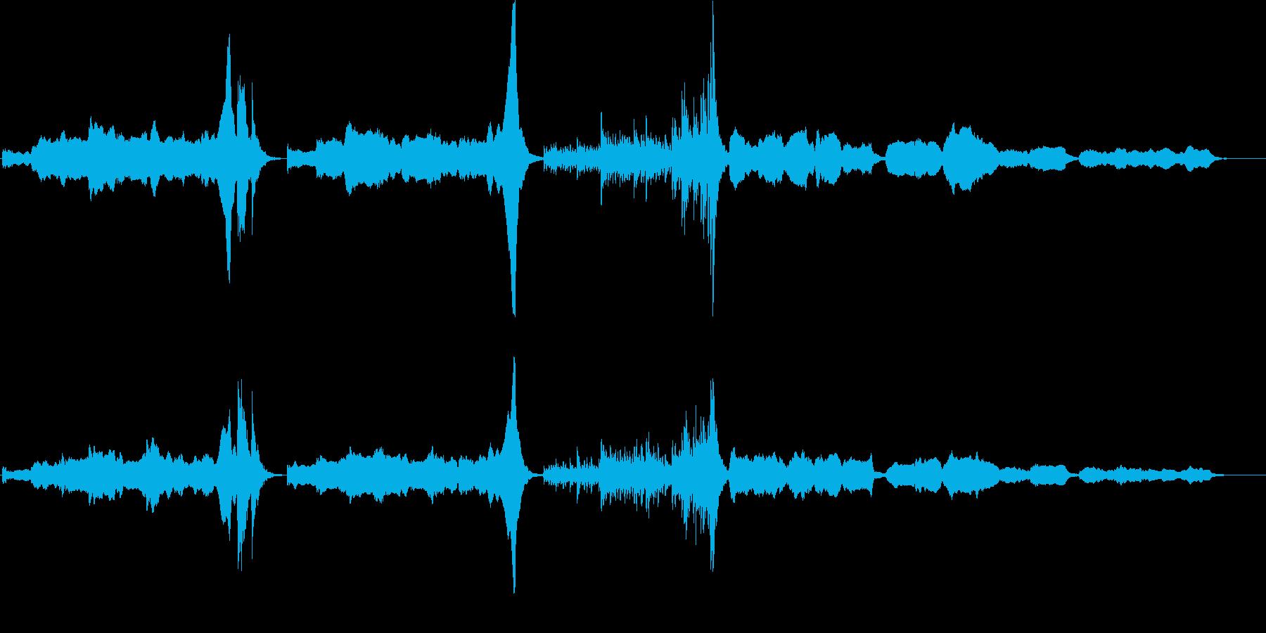 ホルンのみの緊迫した曲の再生済みの波形