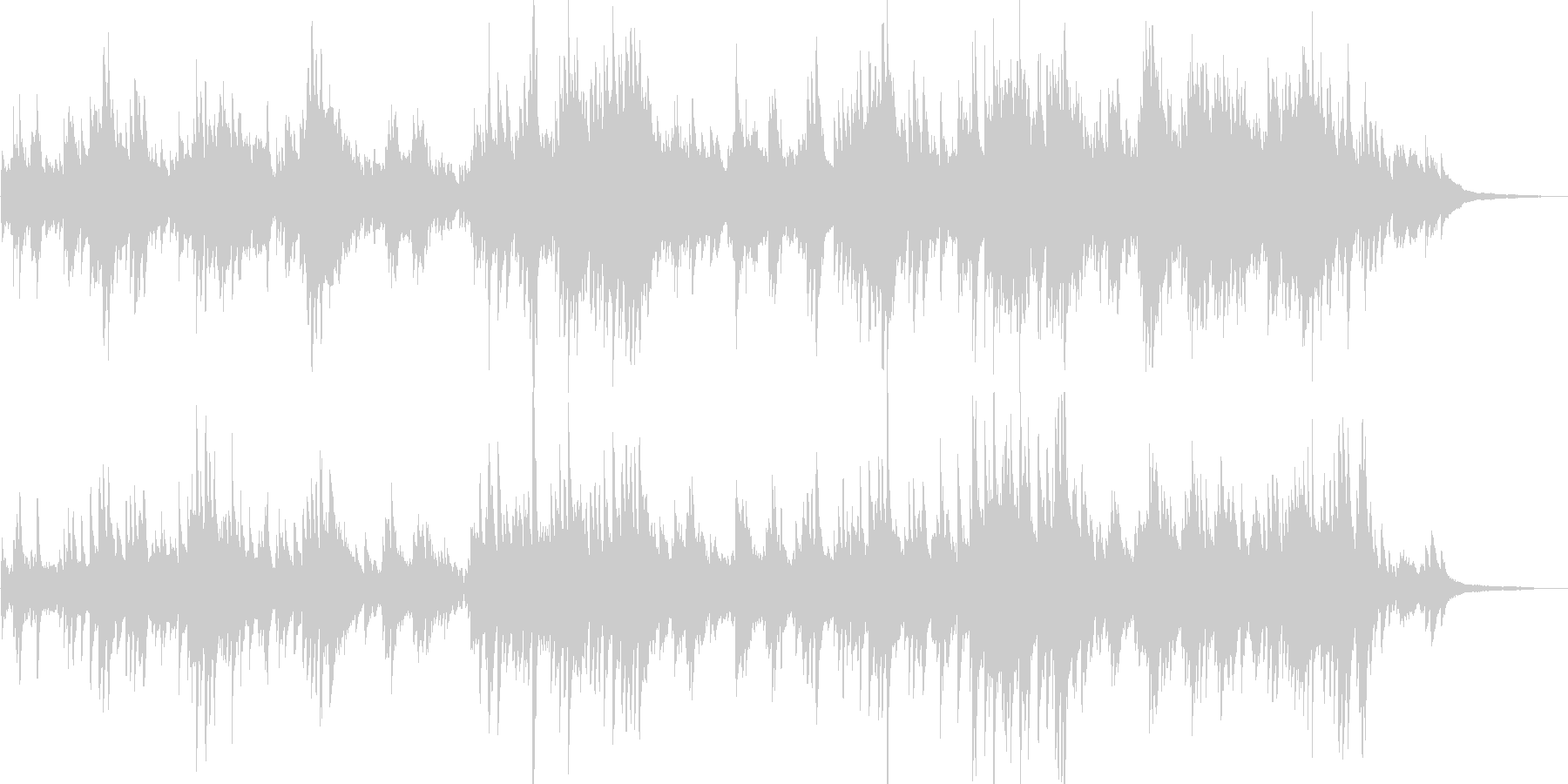 クラシック風 穏やかで優しいピアノ曲の未再生の波形