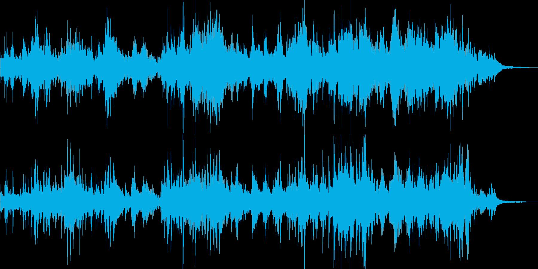 クラシック風 穏やかで優しいピアノ曲の再生済みの波形