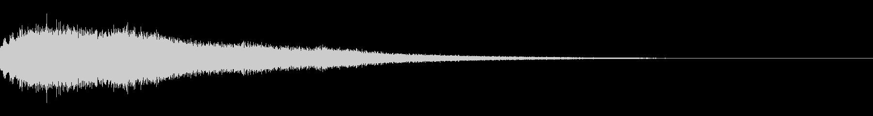 ブーン(下降音)の未再生の波形