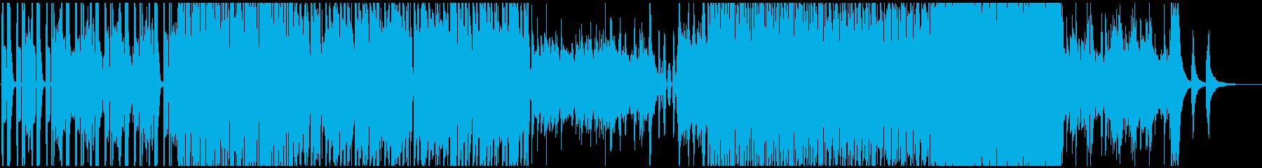 チュートリアルで流れる明るくおしゃれの再生済みの波形