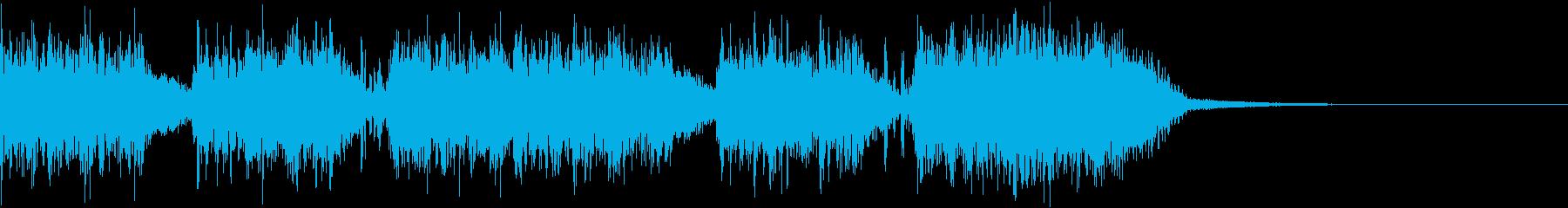 エネルギッシュ・ロックなサウンドロゴ10の再生済みの波形