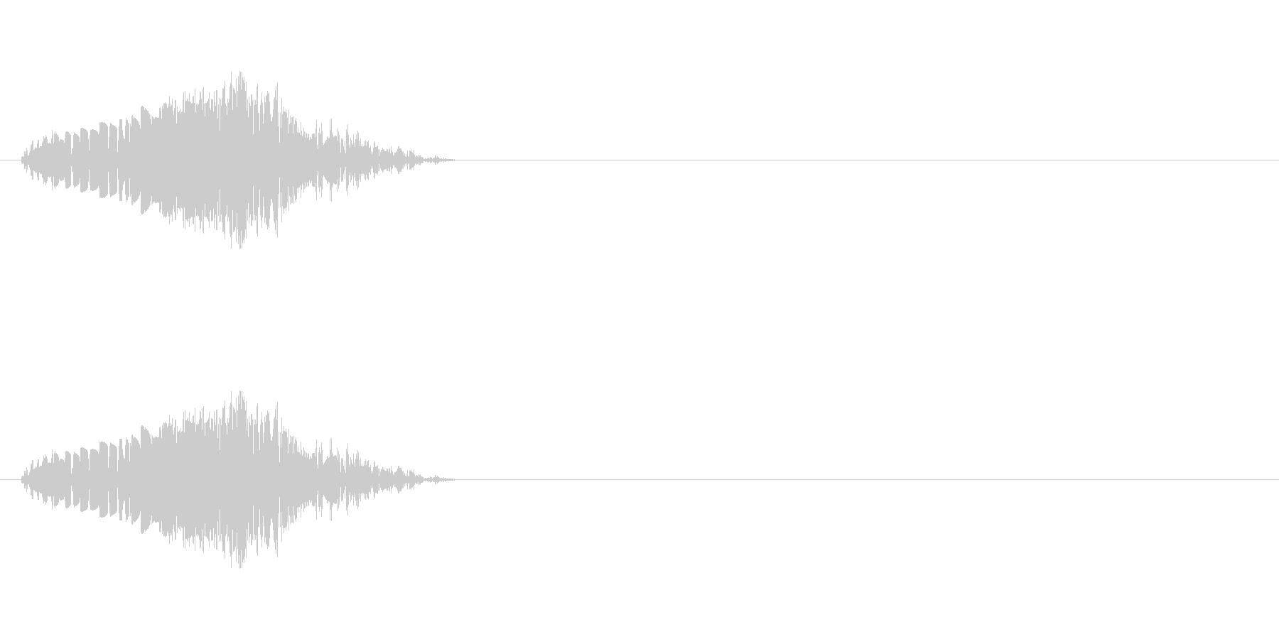 コミカルな打撃音の未再生の波形
