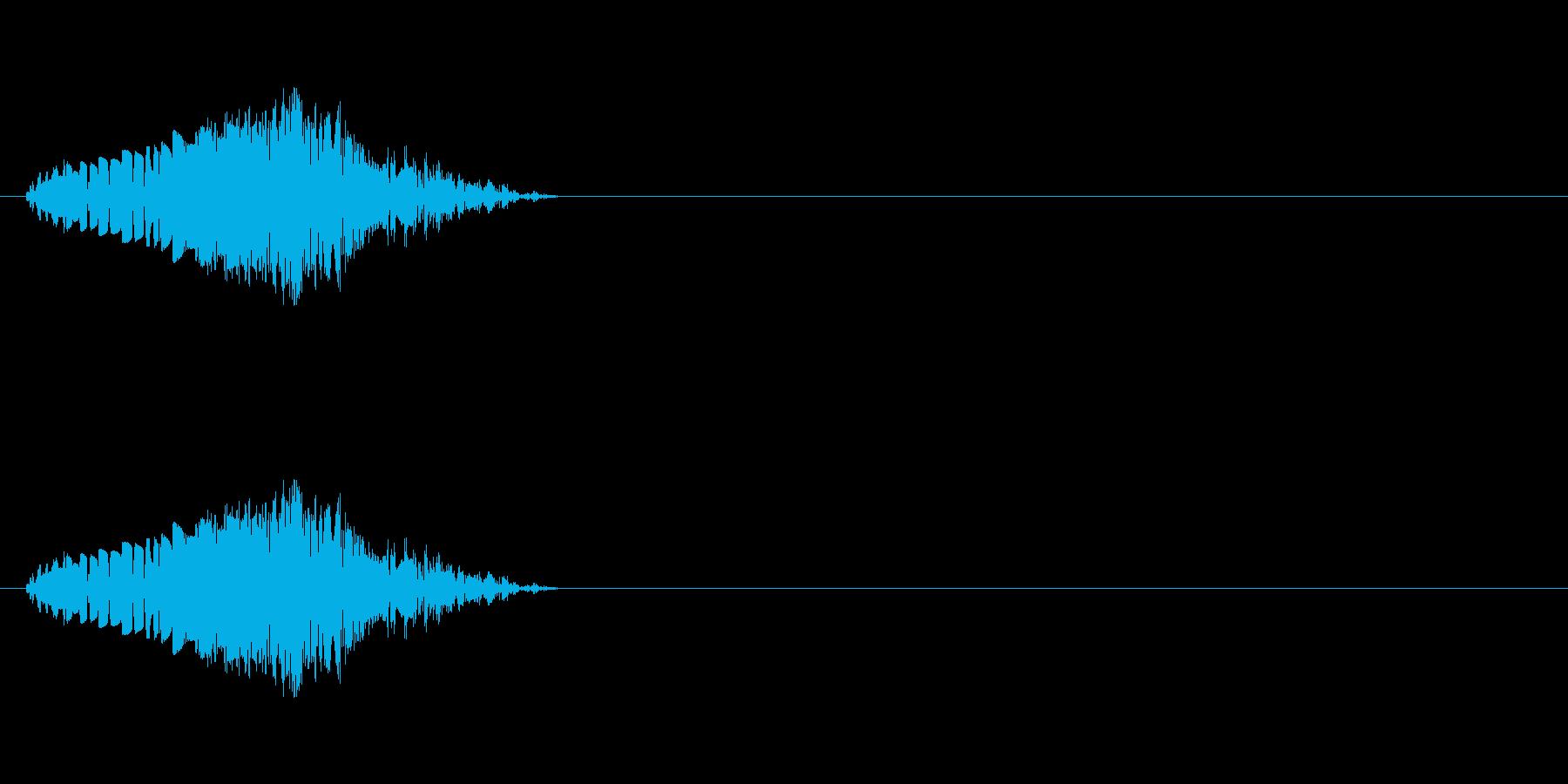 コミカルな打撃音の再生済みの波形