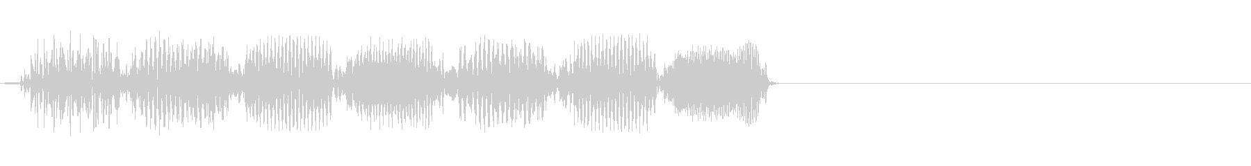 不思議 上昇 電子音の未再生の波形